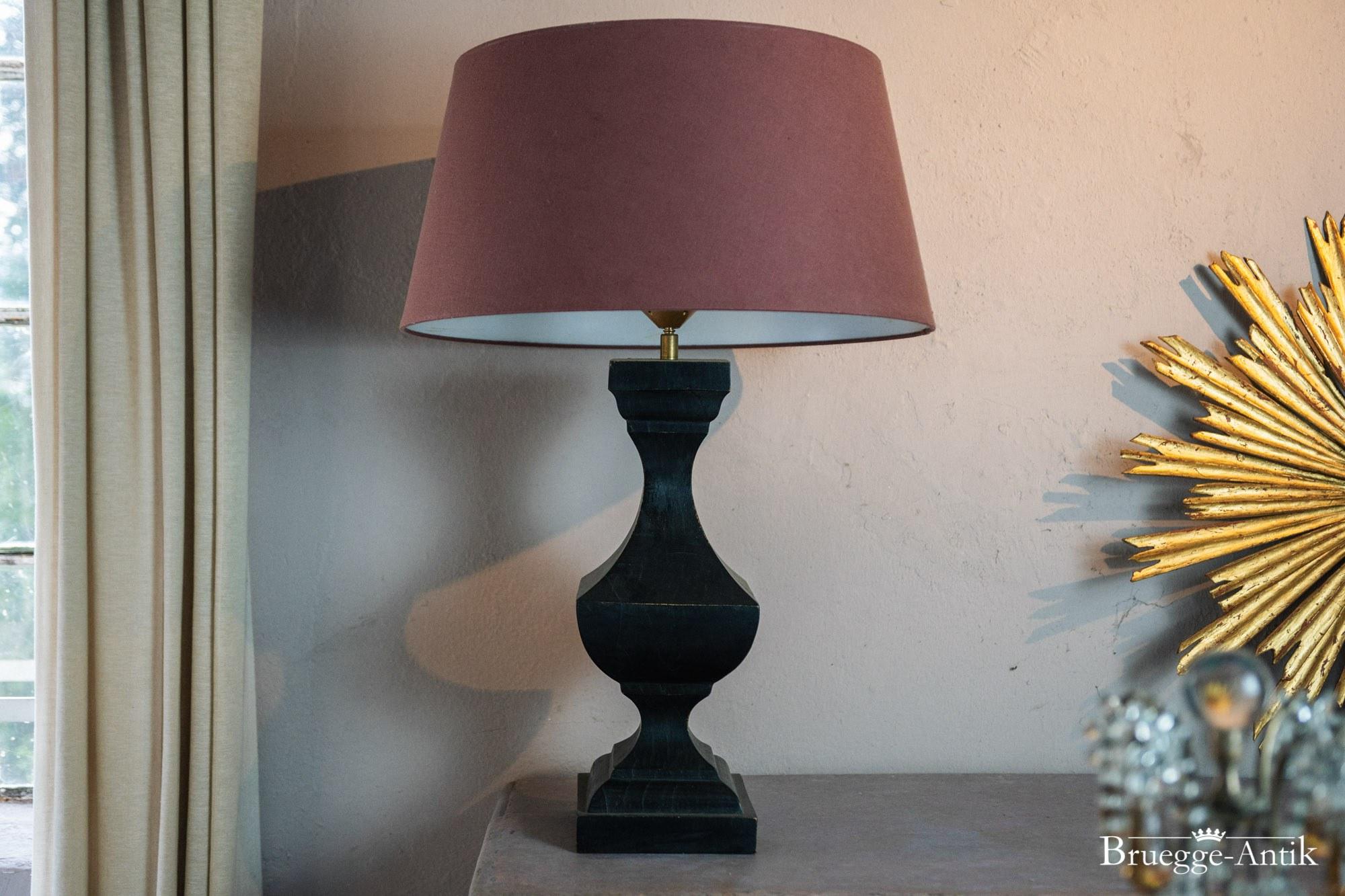 Stehlampe Schwarz Holz Bruegge Antik